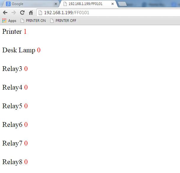 Control KMtronic LAN relays using Explorer Bookmarks