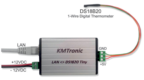LAN DS18B20 High-Precision 1-Wire Digital Temperature Monitor