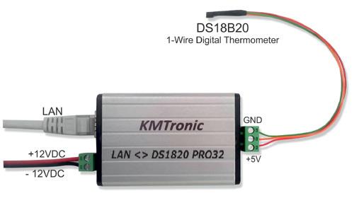 LAN DS18B20 High-Precision 1-Wire Digital Temperature Monitor