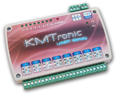 KMtronic UART TTL Serial COM controlled Eight Channel Relay Board