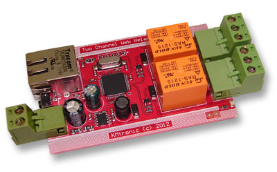 KMtronic LAN Ethernet IP 2 channels WEB Relay board (PCB)