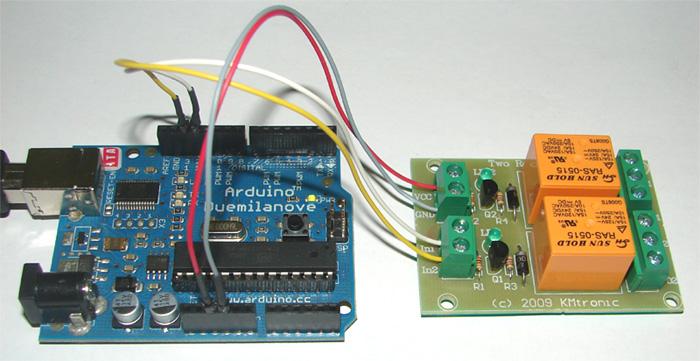 Hobby Robotics Using Relays with Arduino Turning
